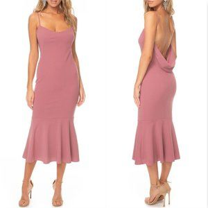 Katie May Los Angeles Crepe Twirl Drape back dress